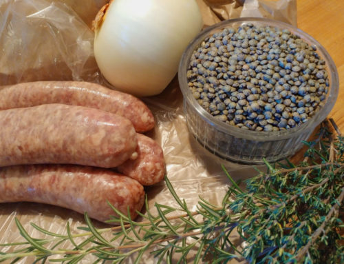 Braised Sausage and Lentils